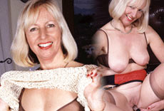 Horny Granny is gagging for a hard dick